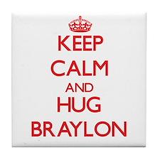 Keep Calm and HUG Braylon Tile Coaster