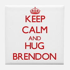 Keep Calm and HUG Brendon Tile Coaster
