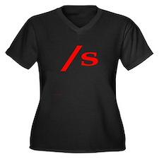 submissive symbol Women's Plus Size V-Neck Dark T-