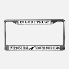 Funny Firearms License Plate Frame