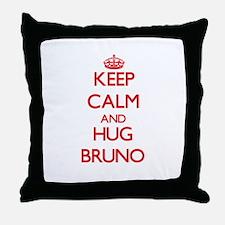 Keep Calm and HUG Bruno Throw Pillow