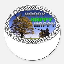 HAPPY Round Car Magnet