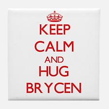 Keep Calm and HUG Brycen Tile Coaster