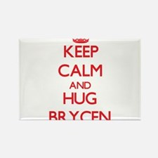 Keep Calm and HUG Brycen Magnets