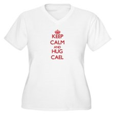 Keep Calm and HUG Cael Plus Size T-Shirt