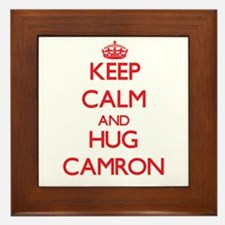 Keep Calm and HUG Camron Framed Tile