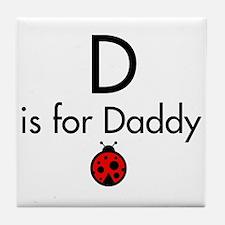 Ladybug Daddy Tile Coaster