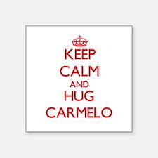Keep Calm and HUG Carmelo Sticker