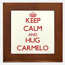 Keep Calm and HUG Carmelo Framed Tile
