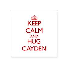 Keep Calm and HUG Cayden Sticker