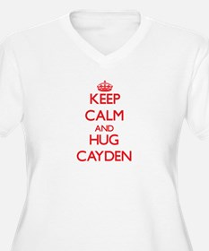 Keep Calm and HUG Cayden Plus Size T-Shirt