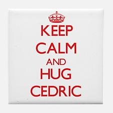 Keep Calm and HUG Cedric Tile Coaster