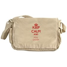 Keep Calm and HUG Chaim Messenger Bag