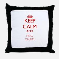 Keep Calm and HUG Chaim Throw Pillow
