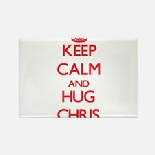 Keep Calm and HUG Chris Magnets