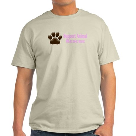 """Support Animal Rescue"" Light T-Shirt"