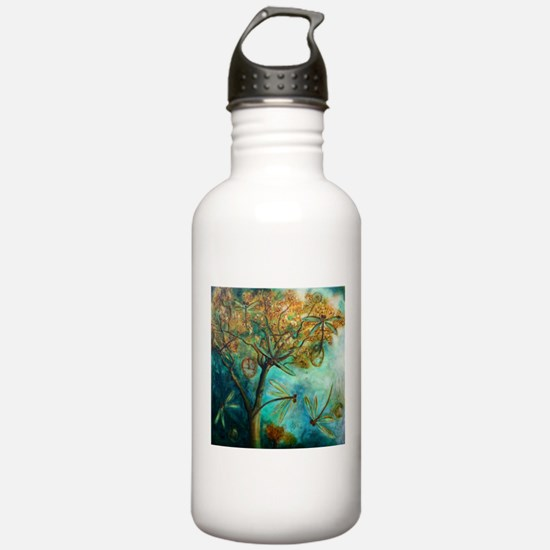 Dragonfly Flirtation Sports Water Bottle