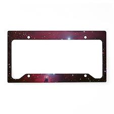 Unicorn galaxy nebula space s License Plate Holder