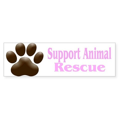 """Support Animal Rescue"" Bumper Sticker"