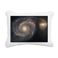 Nebula sprial galaxy spa Rectangular Canvas Pillow