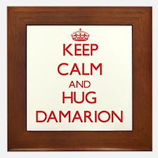 Keep Calm and HUG Damarion Framed Tile