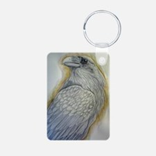 raven Aluminum Photo Keychain