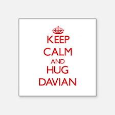 Keep Calm and HUG Davian Sticker