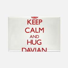 Keep Calm and HUG Davian Magnets
