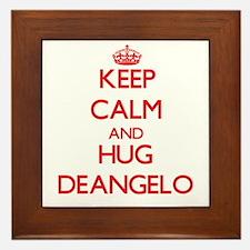 Keep Calm and HUG Deangelo Framed Tile