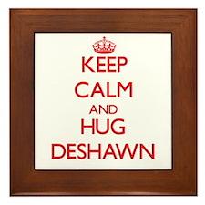 Keep Calm and HUG Deshawn Framed Tile