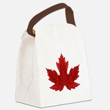 Red Maple Leaf Canvas Lunch Bag