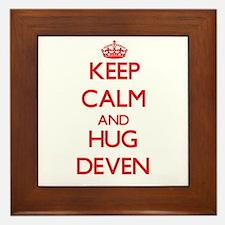 Keep Calm and HUG Deven Framed Tile