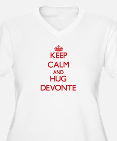 Keep Calm and HUG Devonte Plus Size T-Shirt
