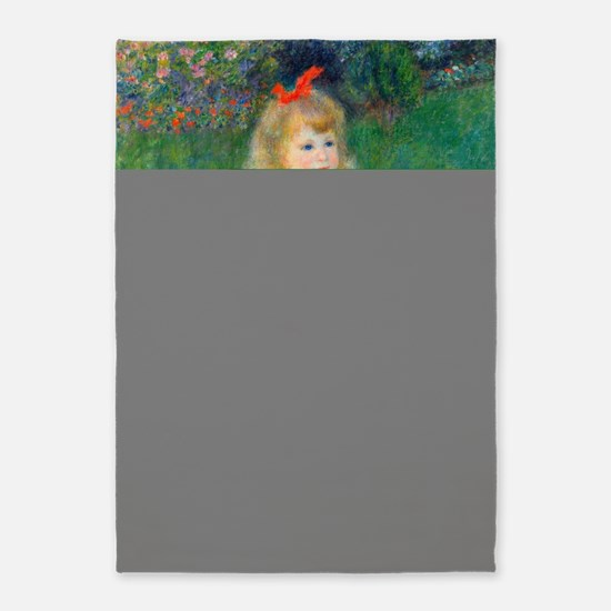 A Girl with a Watering Can by Renoi 5'x7'Area Rug