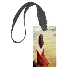 Woman in shawl waiting Luggage Tag