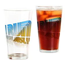 I Run Fabulously Drinking Glass