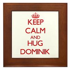 Keep Calm and HUG Dominik Framed Tile