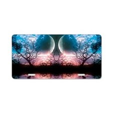 Twin Moons Aluminum License Plate