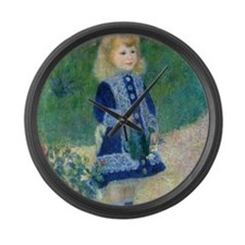 A Girl with a Watering Can by Ren Large Wall Clock