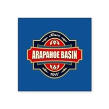 "Arapahoe Basin Old Label Square Sticker 3"" x 3"""