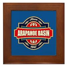 Arapahoe Basin Old Label Framed Tile