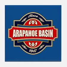Arapahoe Basin Old Label Tile Coaster