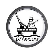 Offshore Oil Wall Clock