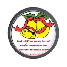 Can I Refill Your Eggnog For You? Wall Clock
