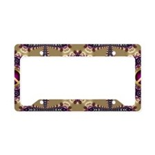 Peace Bohemian Gold License Plate Holder