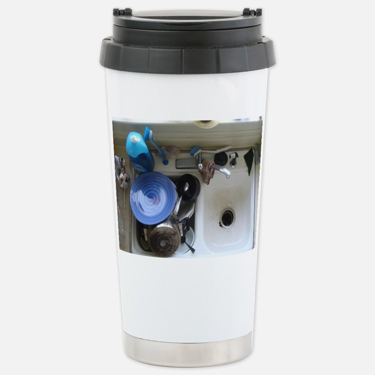 Dirty dishes Stainless Steel Travel Mug