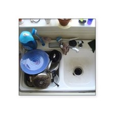 """Dirty dishes Square Sticker 3"""" x 3"""""""