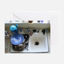 Dirty dishes Greeting Card