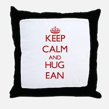 Keep Calm and HUG Ean Throw Pillow