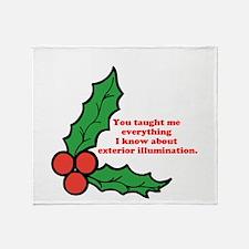 Exterior Illumination Throw Blanket